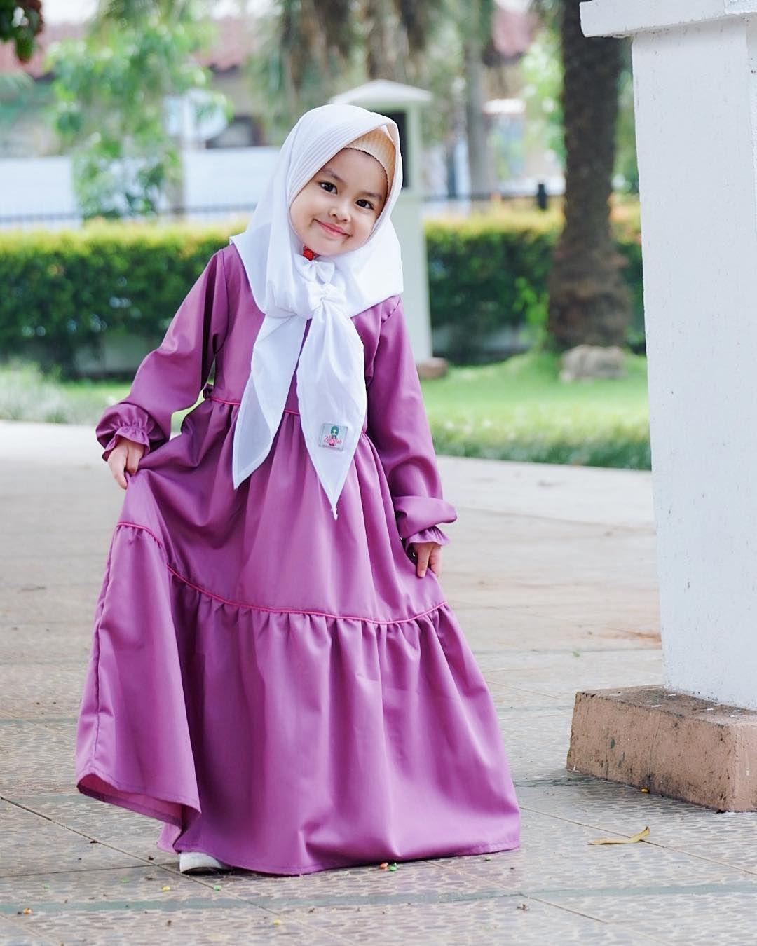 Desain Model Gamis Anak  Gaun bayi perempuan, Baju anak, Pakaian anak