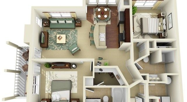3d floor plan google search small house plans pinterest apartment floor plans house and. Black Bedroom Furniture Sets. Home Design Ideas