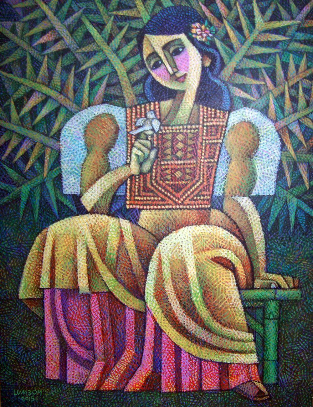 In The Garden By Ninoy Lumboy A Filipino Artist Filipino Art Art Appreciation Philippine Art