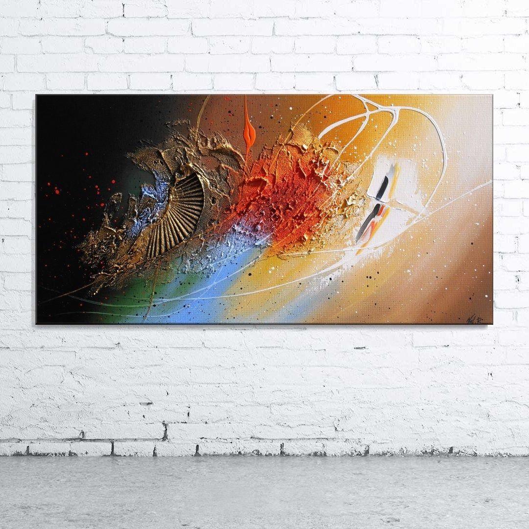 Peinture Giena Tableau Abstrait Contemporain Toile Acrylique En