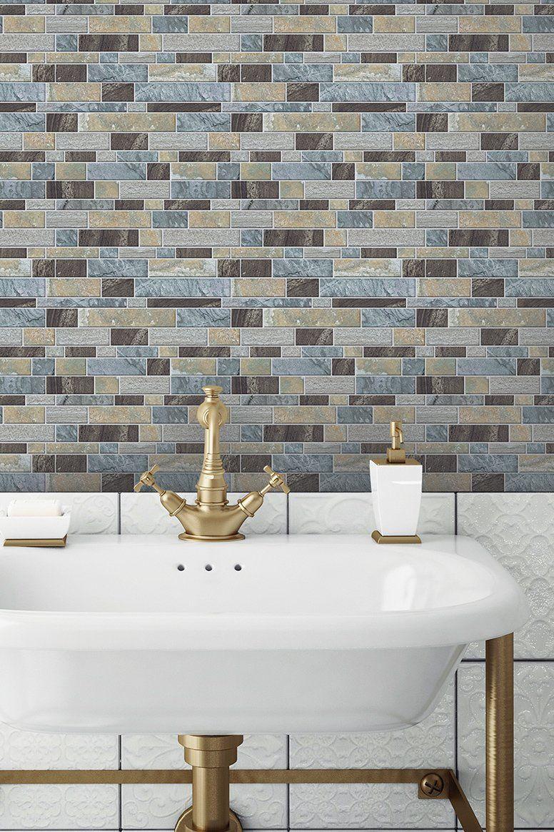 York Wallcoverings Wayfair Peel N Stick Backsplash Stick On Tiles Peel And Stick Tile