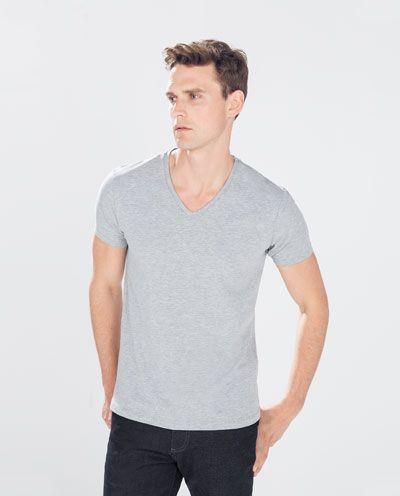 78122072 SLIM FIT T-SHIRT-Plain-T-shirts-MAN | ZARA United Kingdom | threads ...