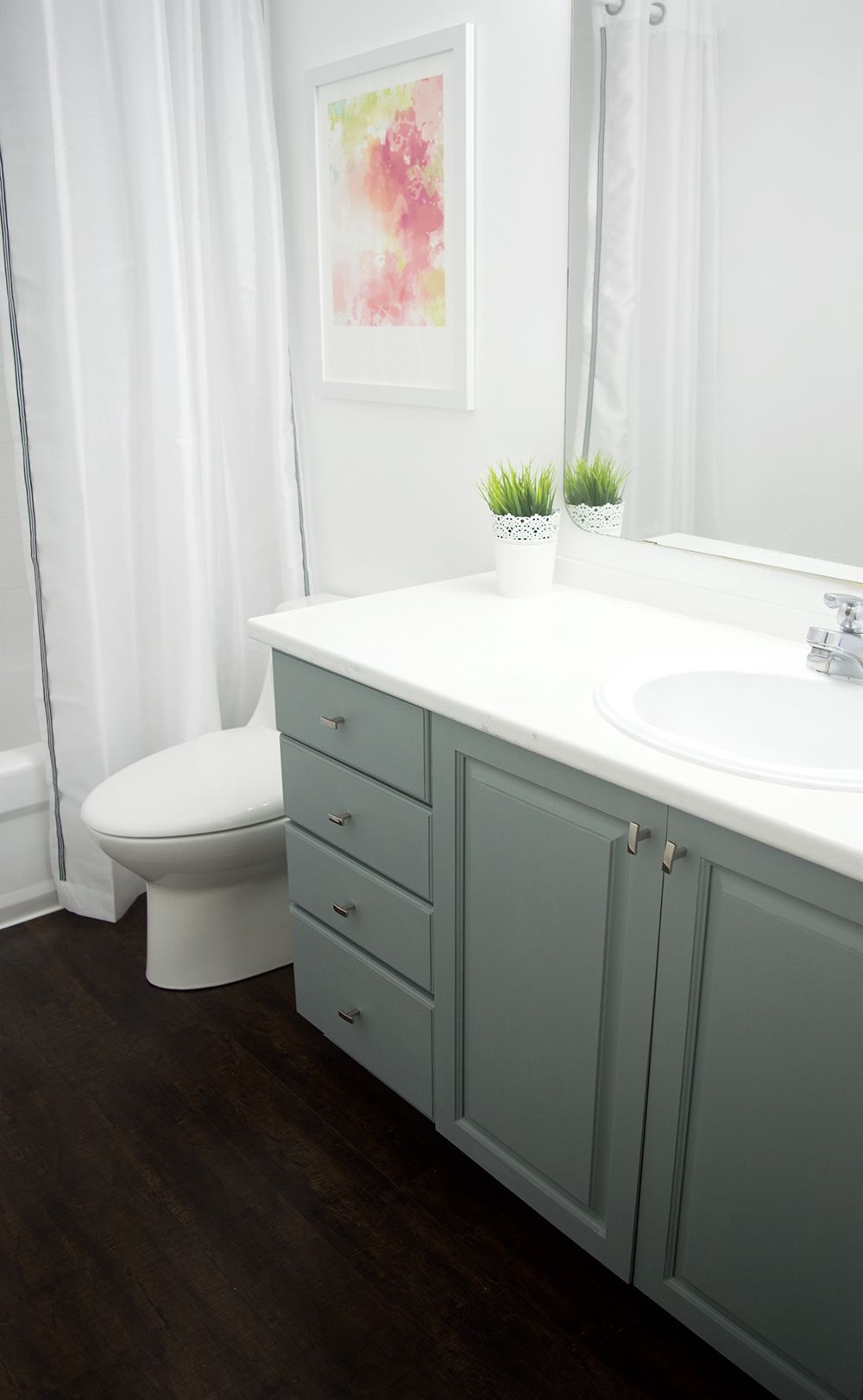 How To Paint Bathroom Cabinets | Pinterest | Rust, Painted bathroom ...