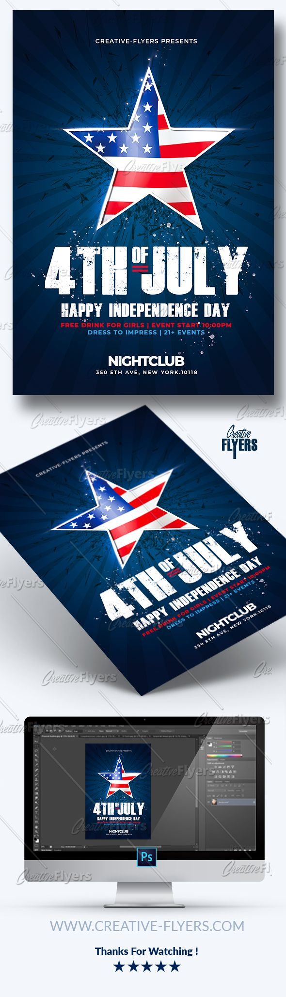 creative 4th of july flyer template to promote your independence day event with these flyer psd photoshop templates independenceday independence day