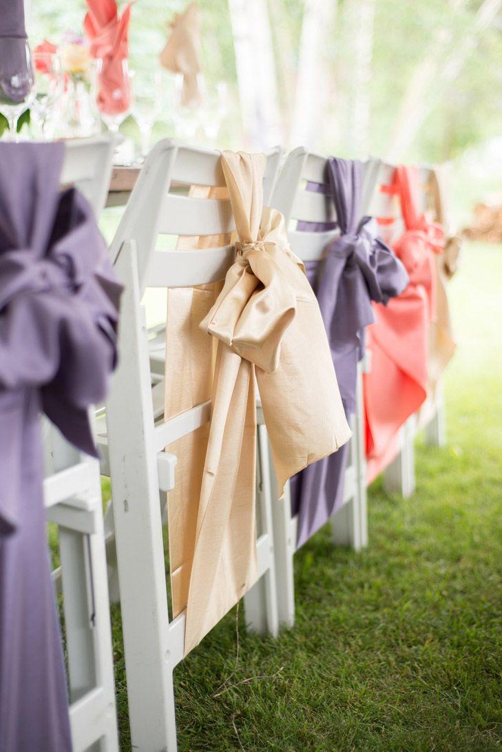 Wedding chair decorations diy   Creative DIY Wedding Chair Ideas With Satin Sash  Wedding Ideas