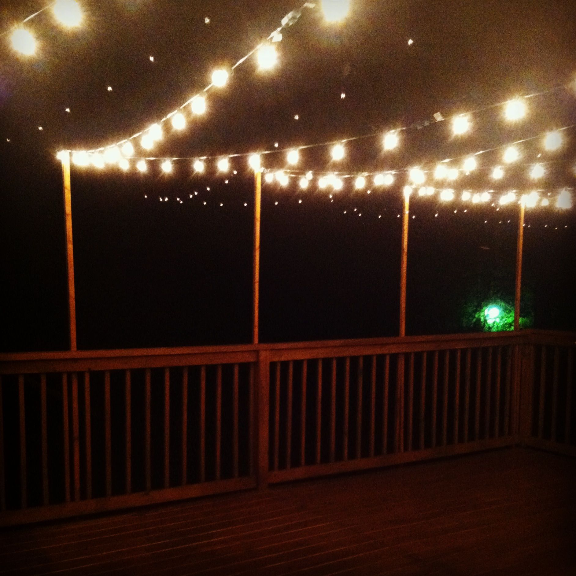 Outdoor deck string lights DIY Home Pinterest