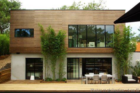 Maison bois contemporaine Cap Ferret, A un fil - Côté Maison Projets - location maison cap ferret avec piscine
