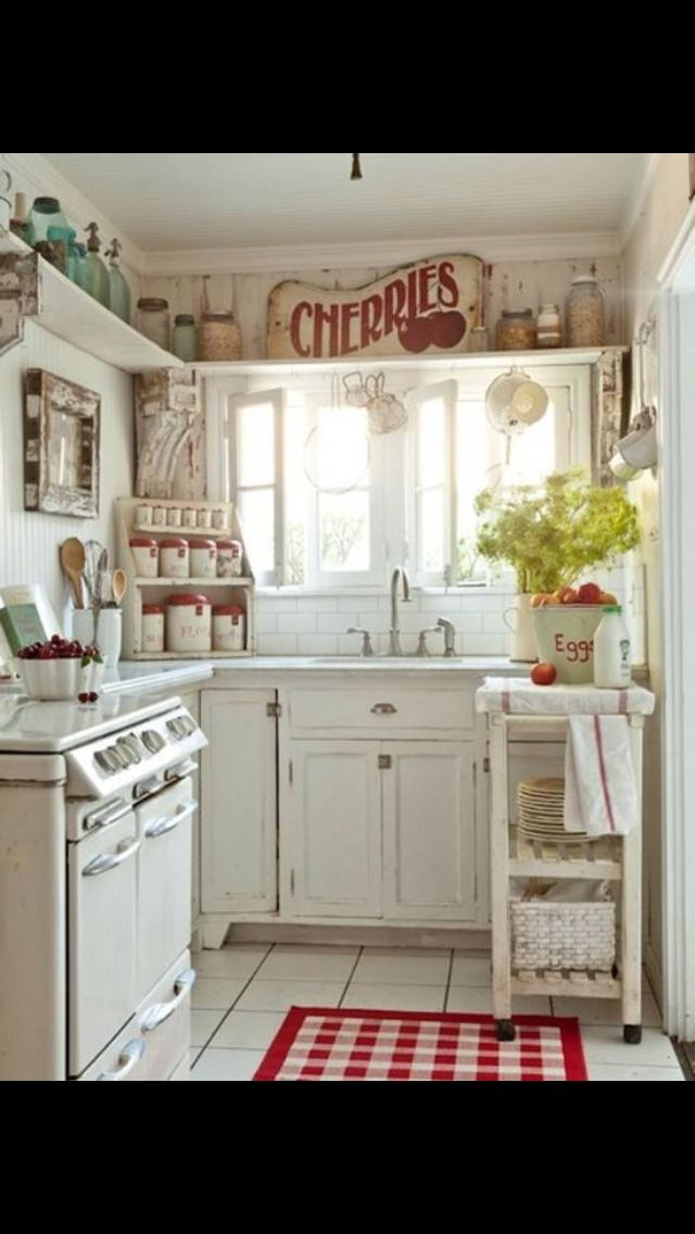 small cute kitchen from shabby chic country kitchen decor eclectic kitchen chic kitchen on c kitchen id=26359