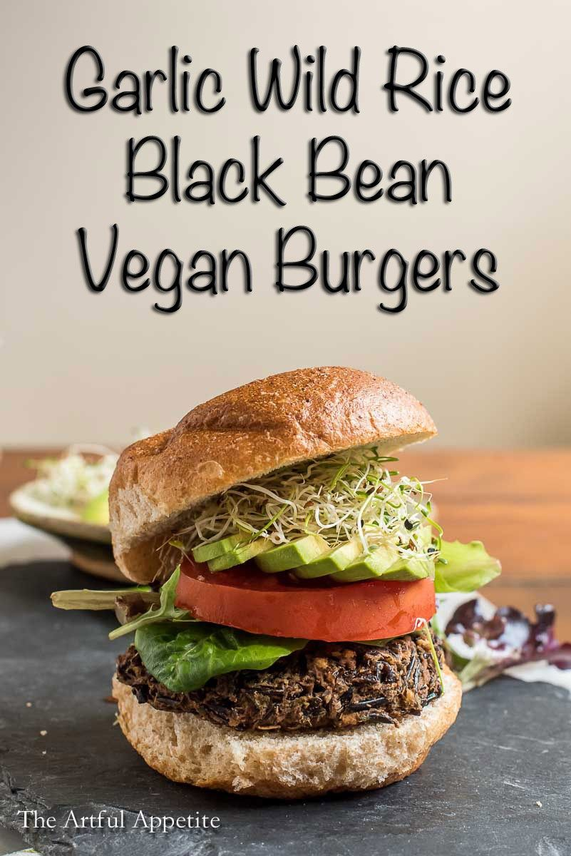 Garlic Wild Rice Black Bean Vegan Burgers