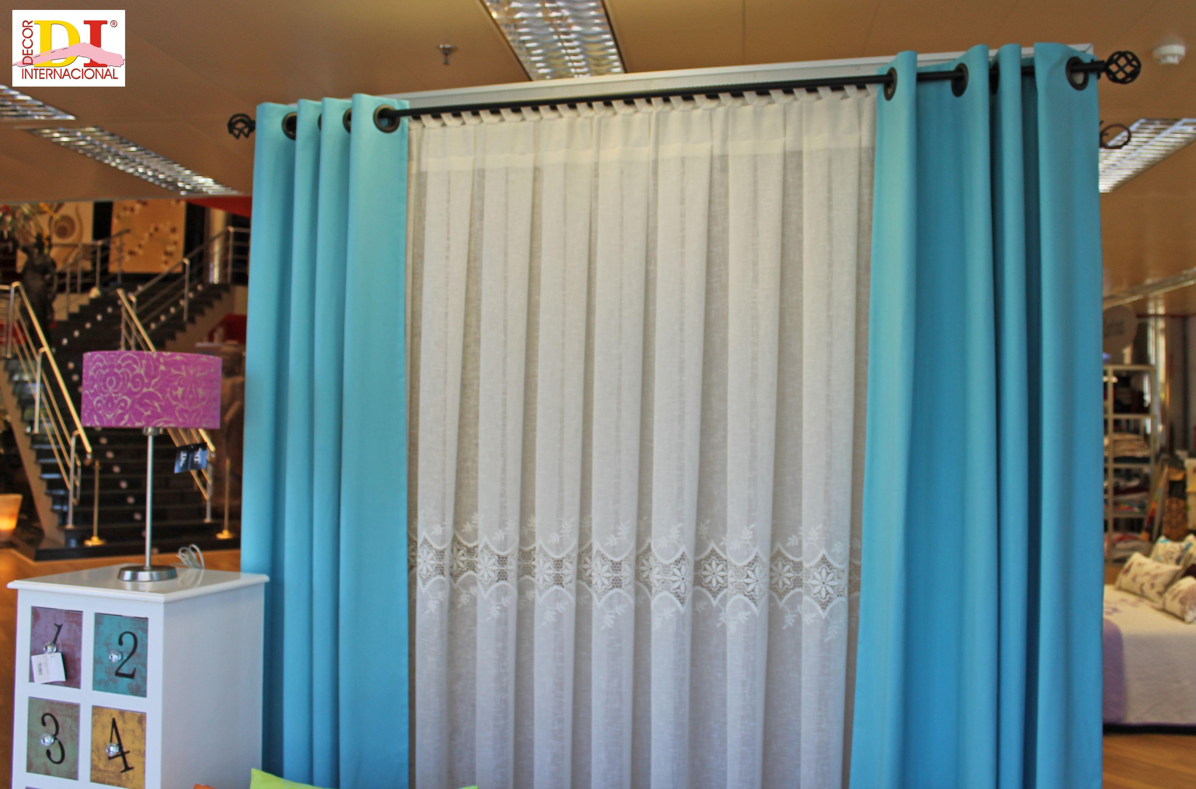 Cortina con ollaos cortinas pinterest cortinas - Cortinas con ollaos ...