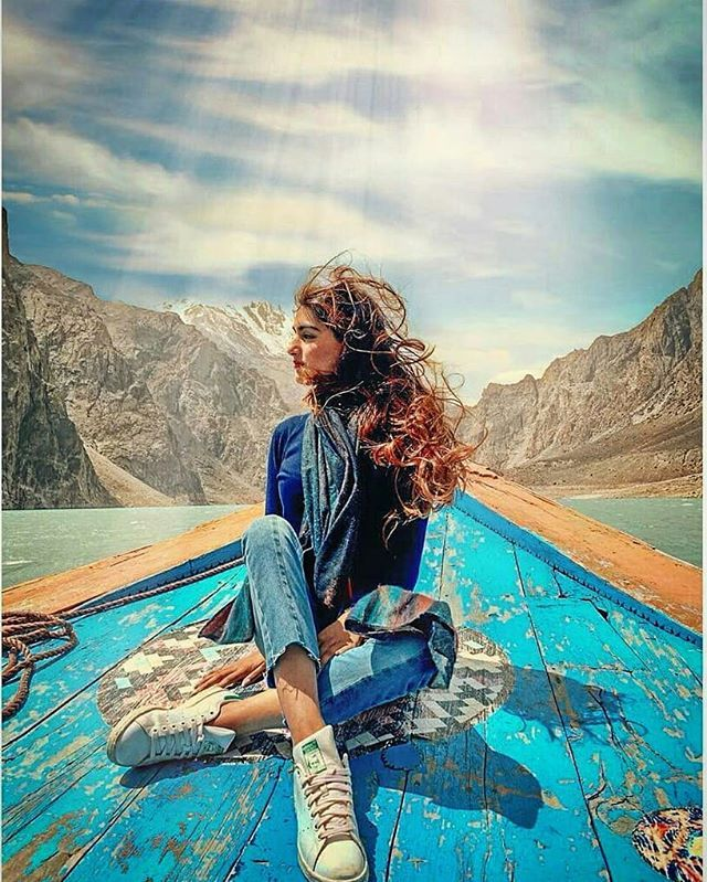 An amazing boating trip at the Attabad lake, Hunza.🇵🇰 ️