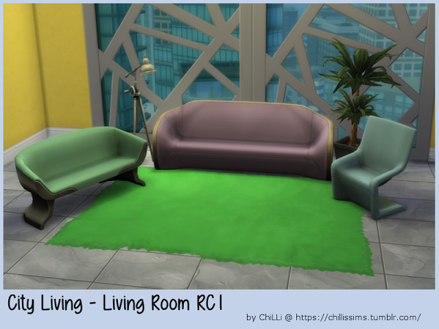 Sims 4 CC's - The Best: City Living - Living Room RC1 by ChiLLis Sims