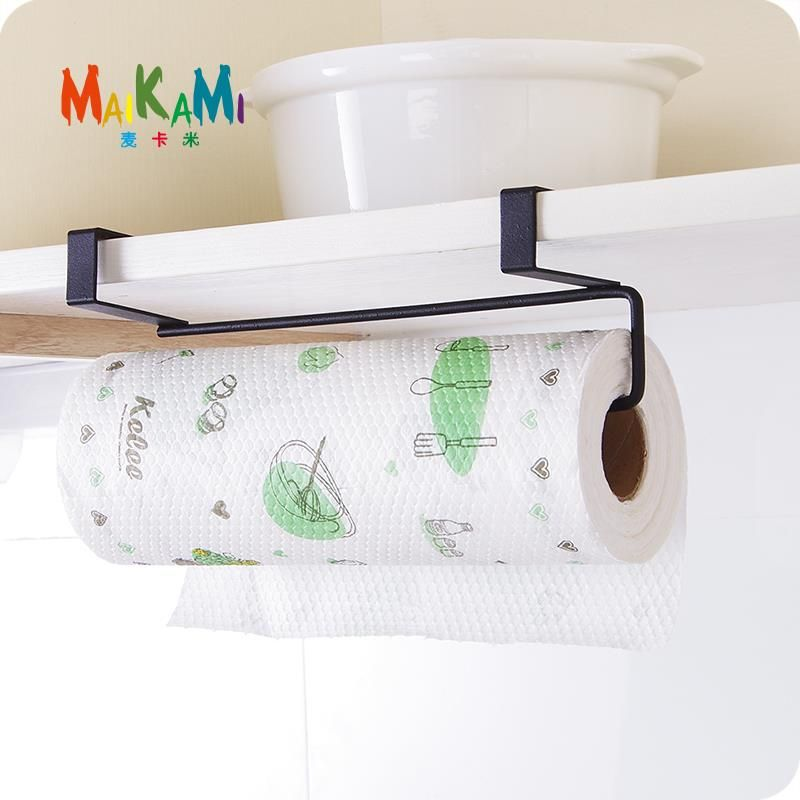 Maikami New Iron Kitchen Tissue Holder Hanging Bathroom Toilet Roll Paper Holder Towel Rack Kitchen Cabinet Door H Kitchen Paper Towel Kitchen Roll Toilet Roll