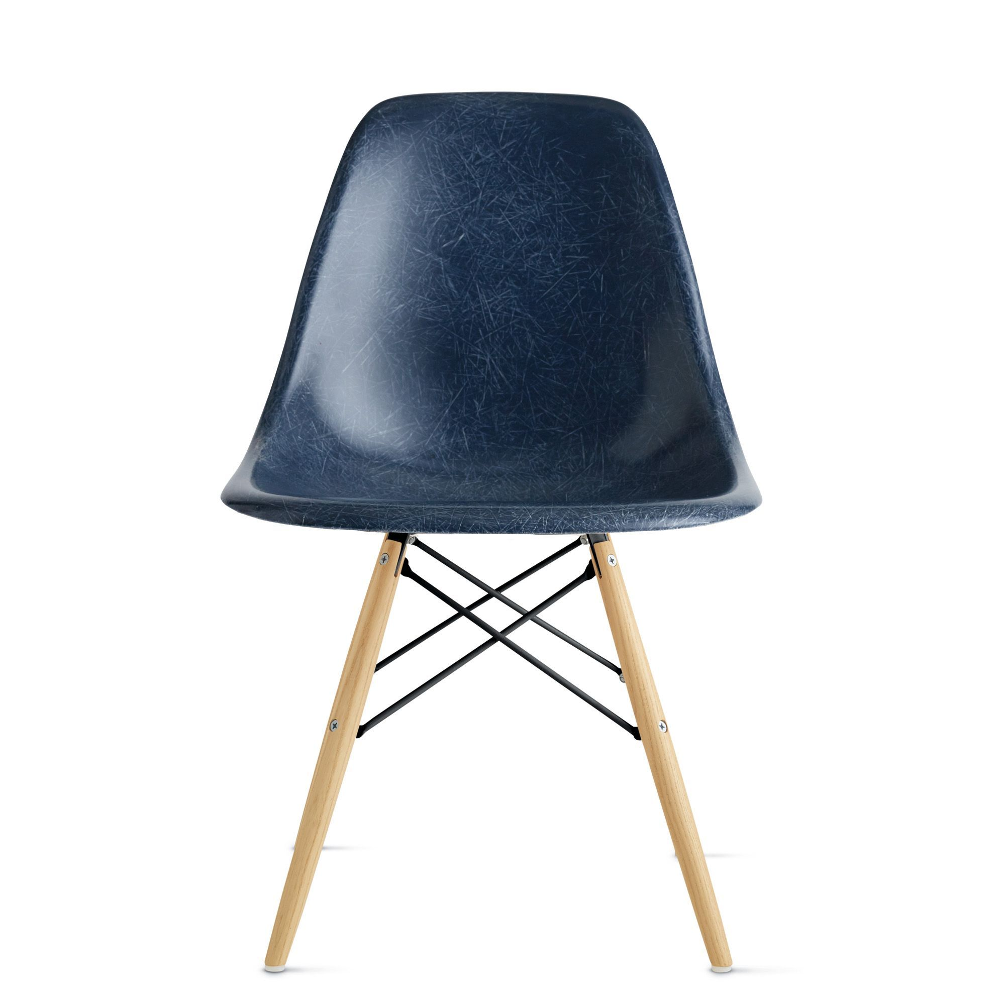 Eames® Molded Fiberglass DowelLeg Side Chair (DFSW) (With