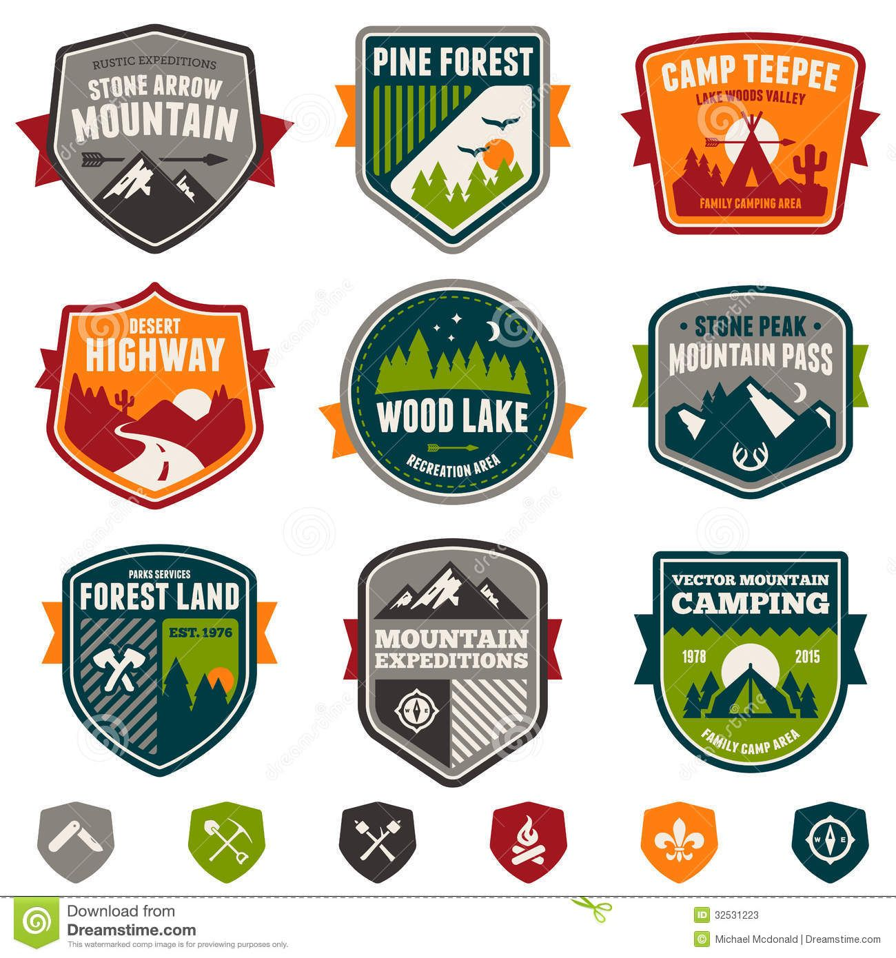 Vintage Travel And Camp Badges Download From Over 42