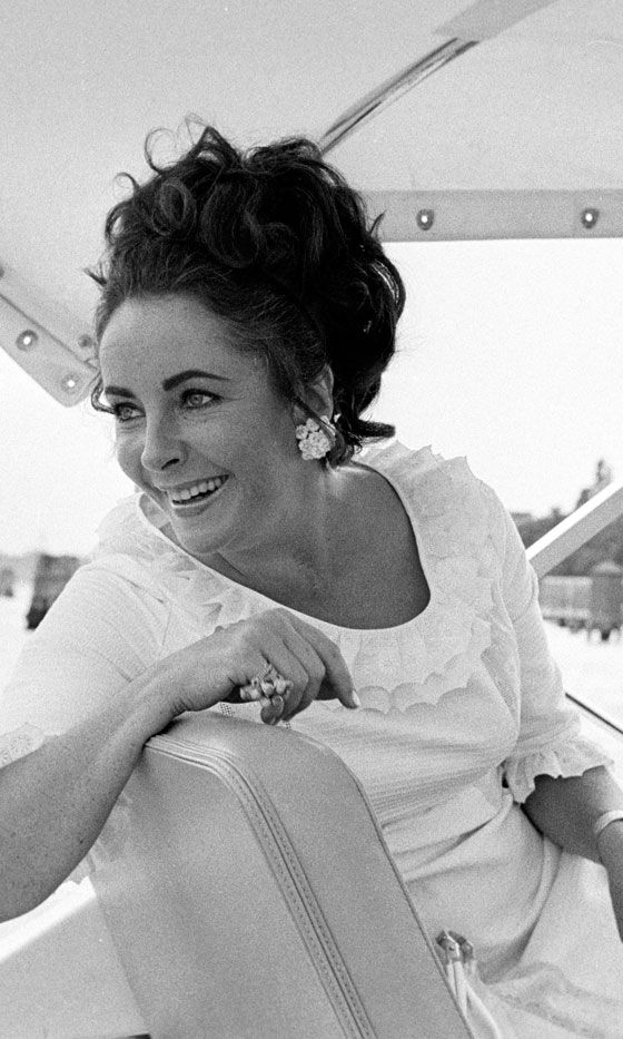Elizabeth Taylor On Board The Onassis Yacht, 1975