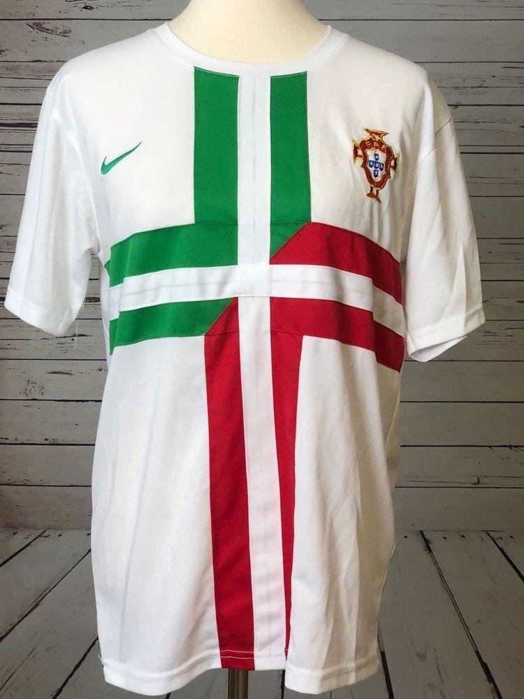 size 40 c0a00 1bbb2 Cristiano RONALDO 7 #7 Soccer Jersey Portugal MEDIUM White ...