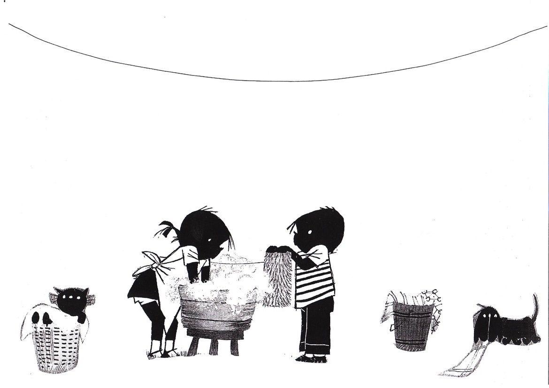 Wasdag Ook Leuk Om Aan De Waslijn Als Knipoefening Allemaal Zwart Witte Kleertjes Te Laten Maken 2 2 Knutselen Jip En Janneke Schmidt Thema