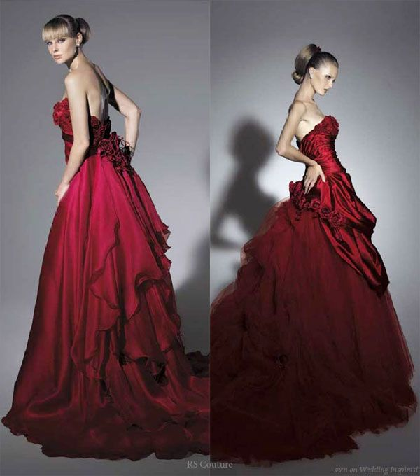 Wedding In Color by RS Couture   Deep red color, Red color and Red ...