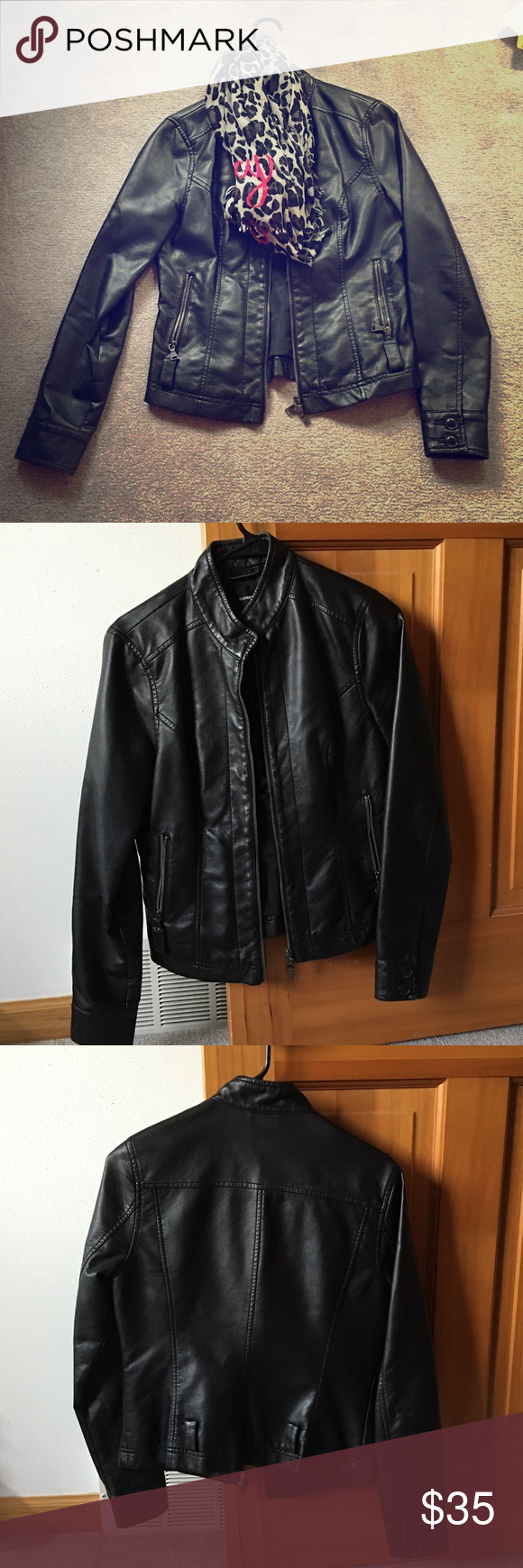 Express Moto Jacket. Best offer. I'm seriously sad about selling this one, but I will NEVER be a size small ever again. I've been trying just so I can fit back into this jacket!  I originally paid $124 for it at Express. Offers are welcome. This jacket still has so much life left. Gently loved. Express Jackets & Coats