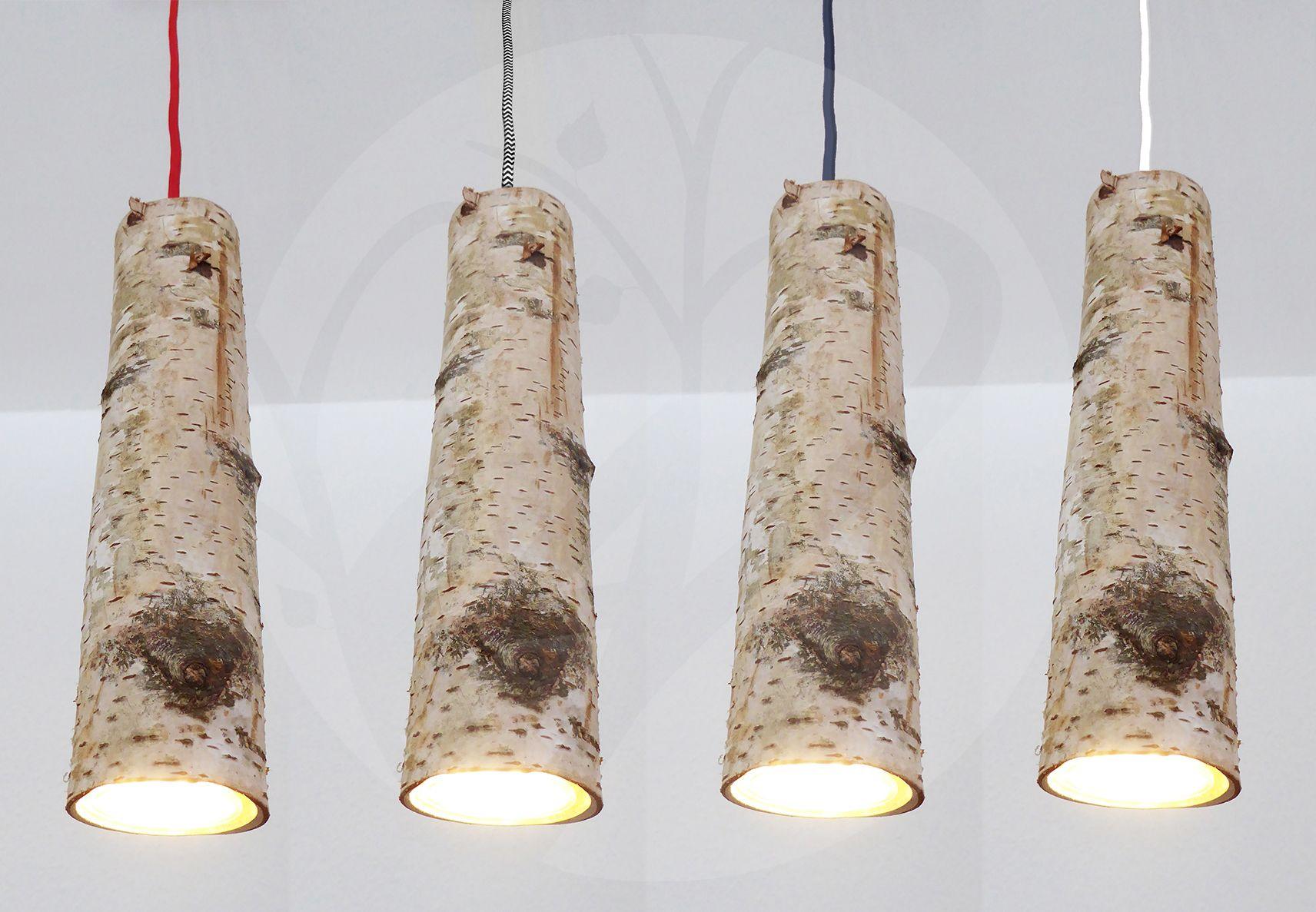 Naturmöbel leuchte birkenlichtung handgefertigte pendelleuchte aus