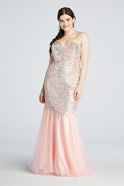 Crystal Beaded Mermaid Prom Dress with Train P3102W | Mermaid ...