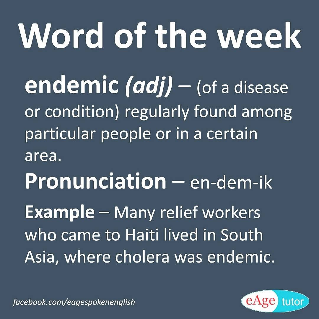 Endemisch Definition