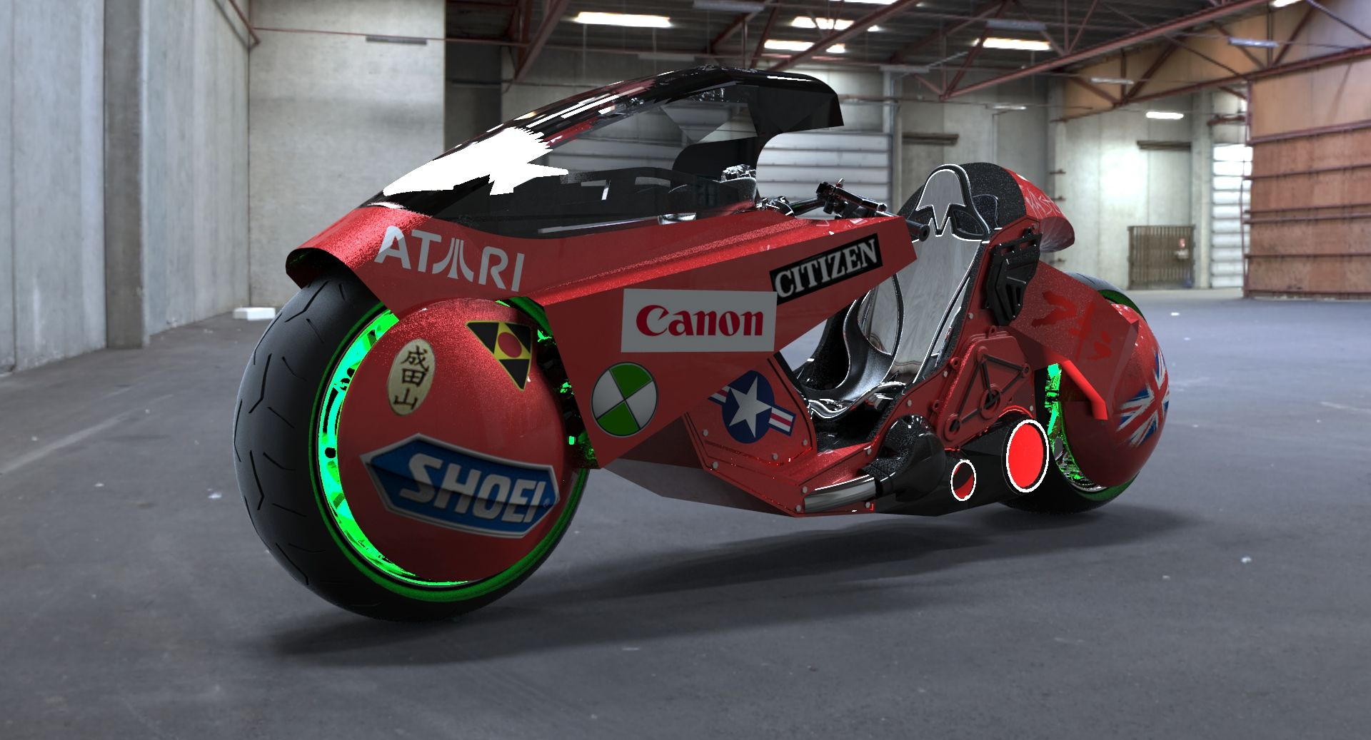 Kaneda S Bike Akira Motorcycle Solidworks 3d Cad Model