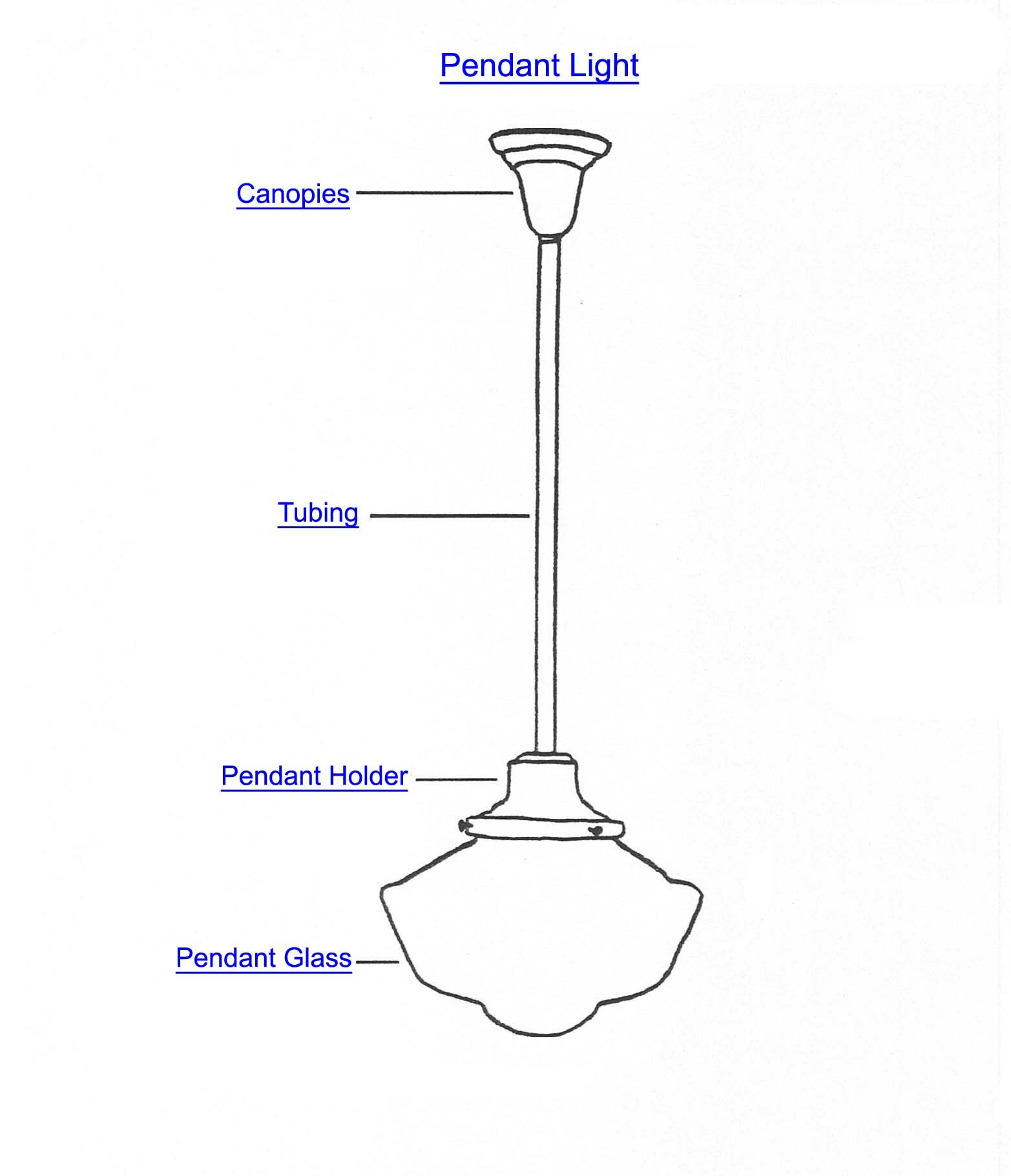 hight resolution of pendant light parts by name