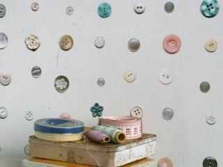 Knopen behang pastel - OBLY