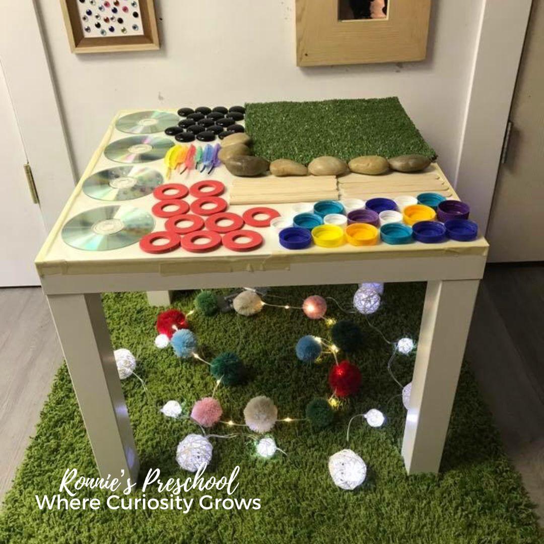 Sensory Table Sensory table, Daycare activities