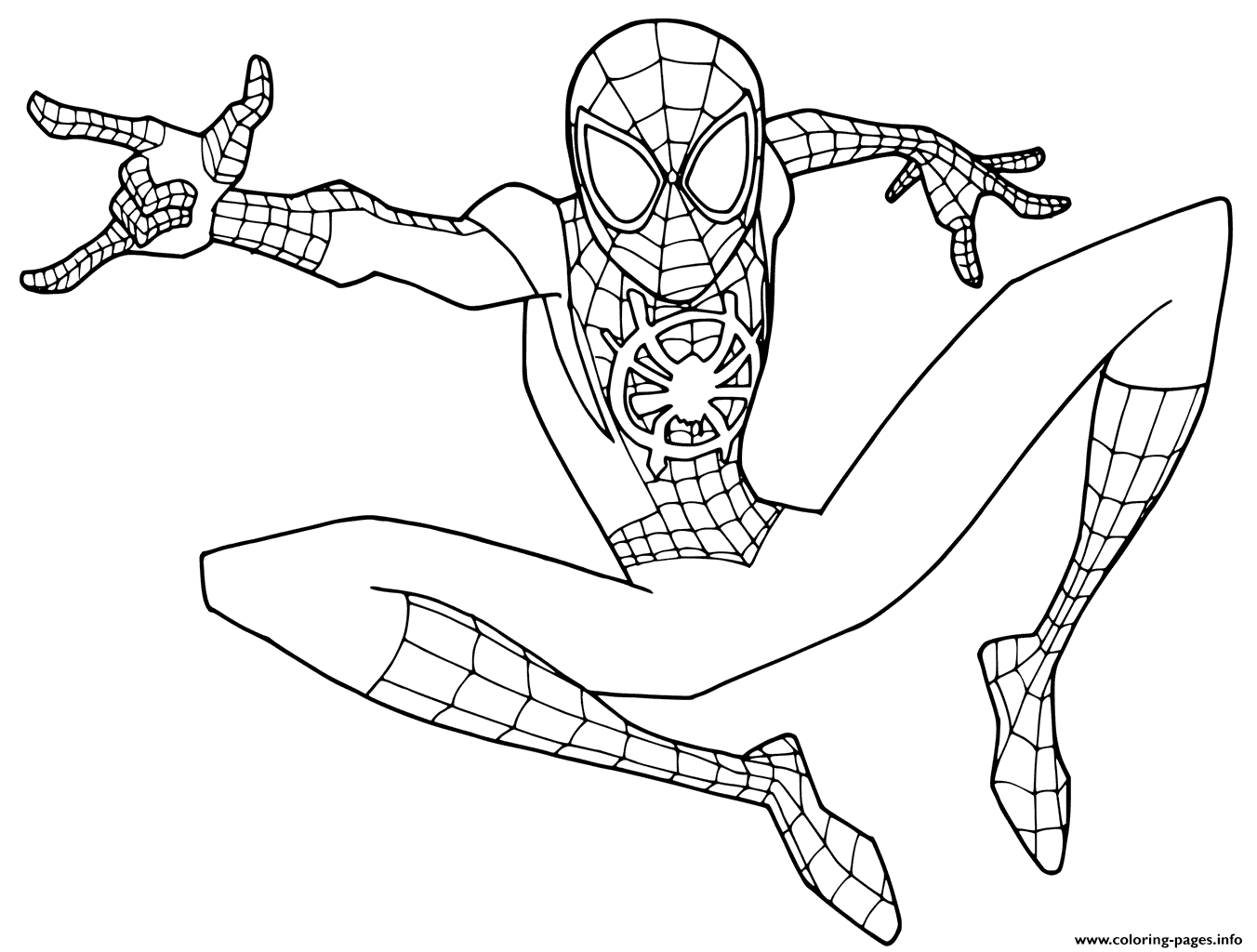 Print Young Spider Man Coloring Pages