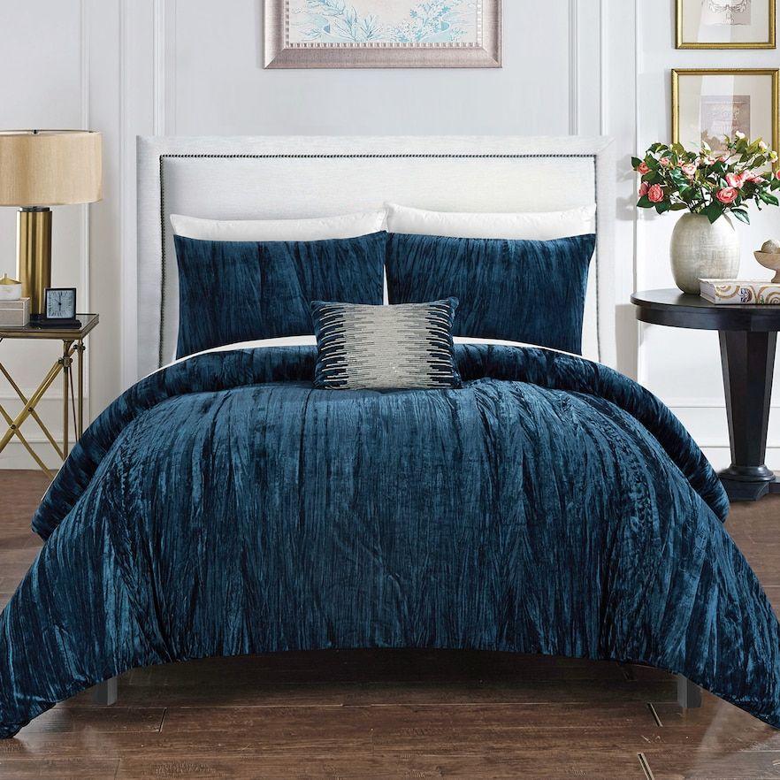 Chic Home Westmont Comforter Set, Blue Bed comforter