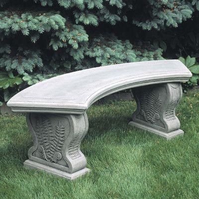 Kuhlmann Wooden Garden Bench Outdoor Garden Bench Stone Garden