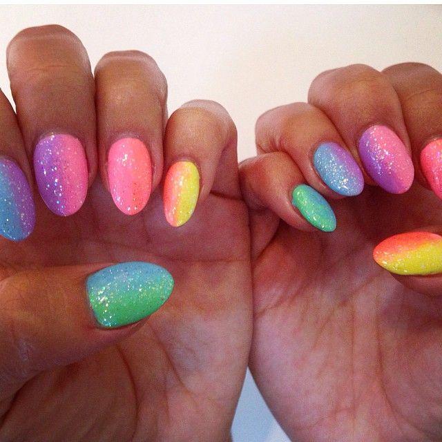 Ibiza Nails Nails Nailart Rainbow Ombre 90s Fade Faded Notd Bright Beauty Ombre Ombrenails Rai Rainbow Nails Faded Nails Bright Gel Nails