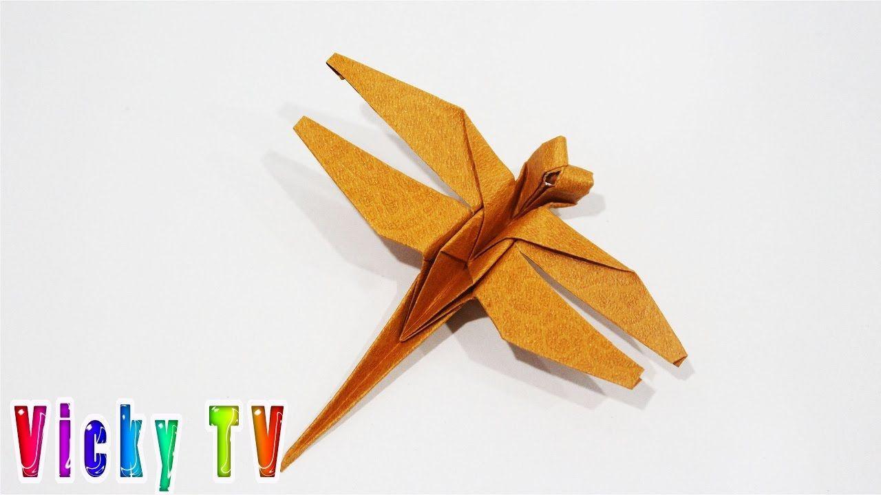 Sehr Origami Libelle, wie man Libelle, Origami Papier falten - YouTube YJ04