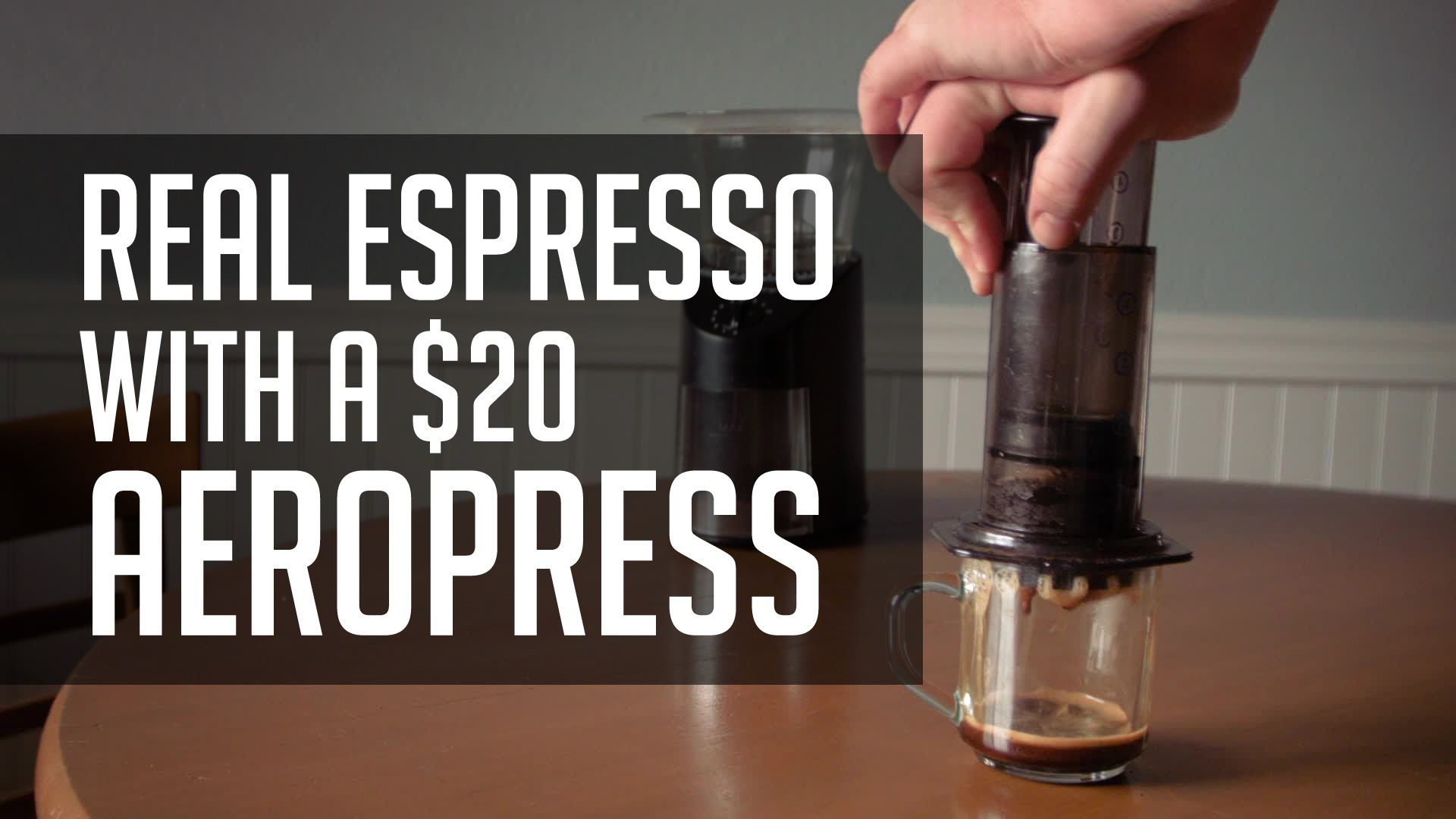 How to Make REAL Espresso With a 20 Aeropress! Tutorial