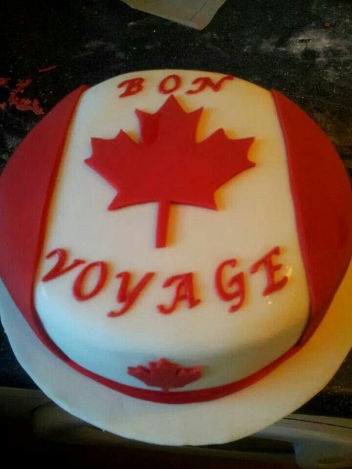 Canadian Bon Voyage Cake Bon Voyage Cakes In 2019