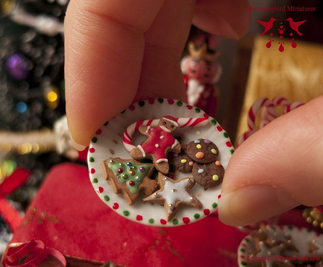 Cookies for Santa - Dollhouse miniature in 1:12 scale by Hummingbird Miniatures, via Flickr