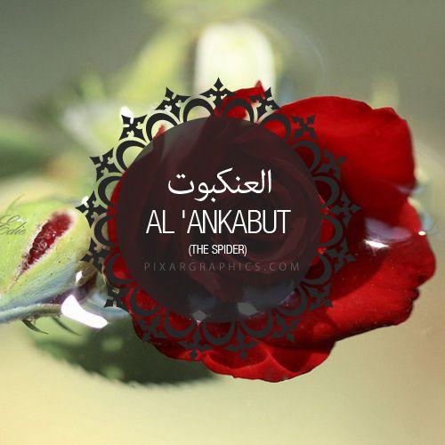 Al Ankabut Surah graphics