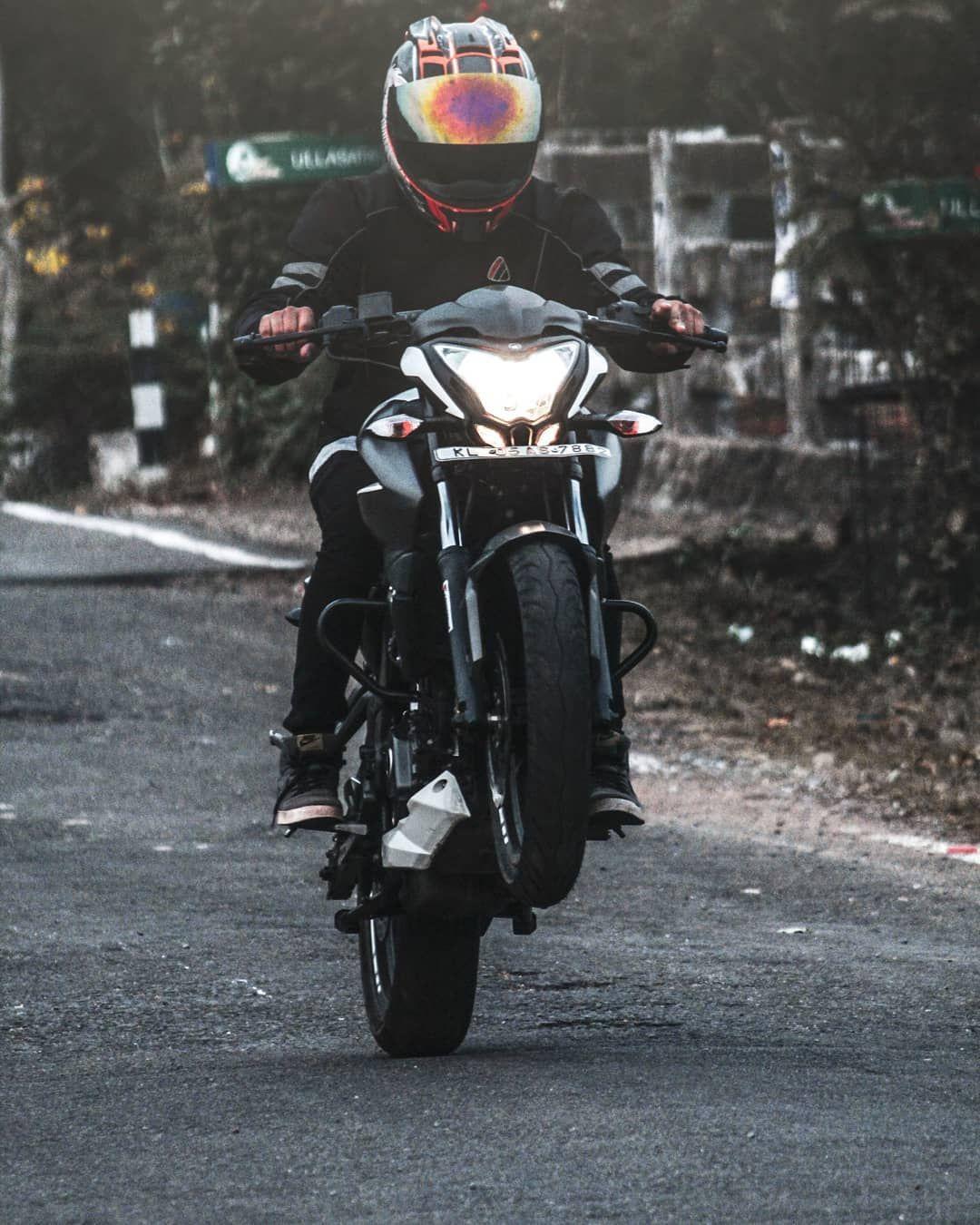 This Is All We Knowwwww Wheelie The Sparkrider Ns200 This Is All We Knowwwww Bike Pic Bike Photoshoot Biker Love