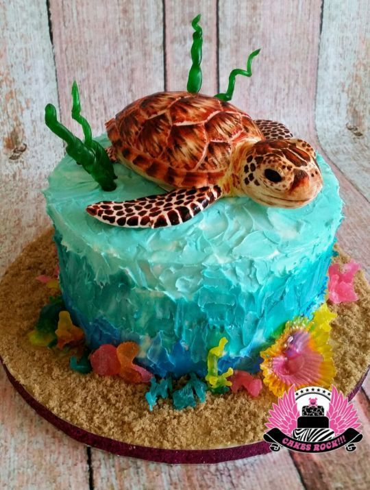 Sea Turtle Birthday Cake Things I love Pinterest Bolinhos