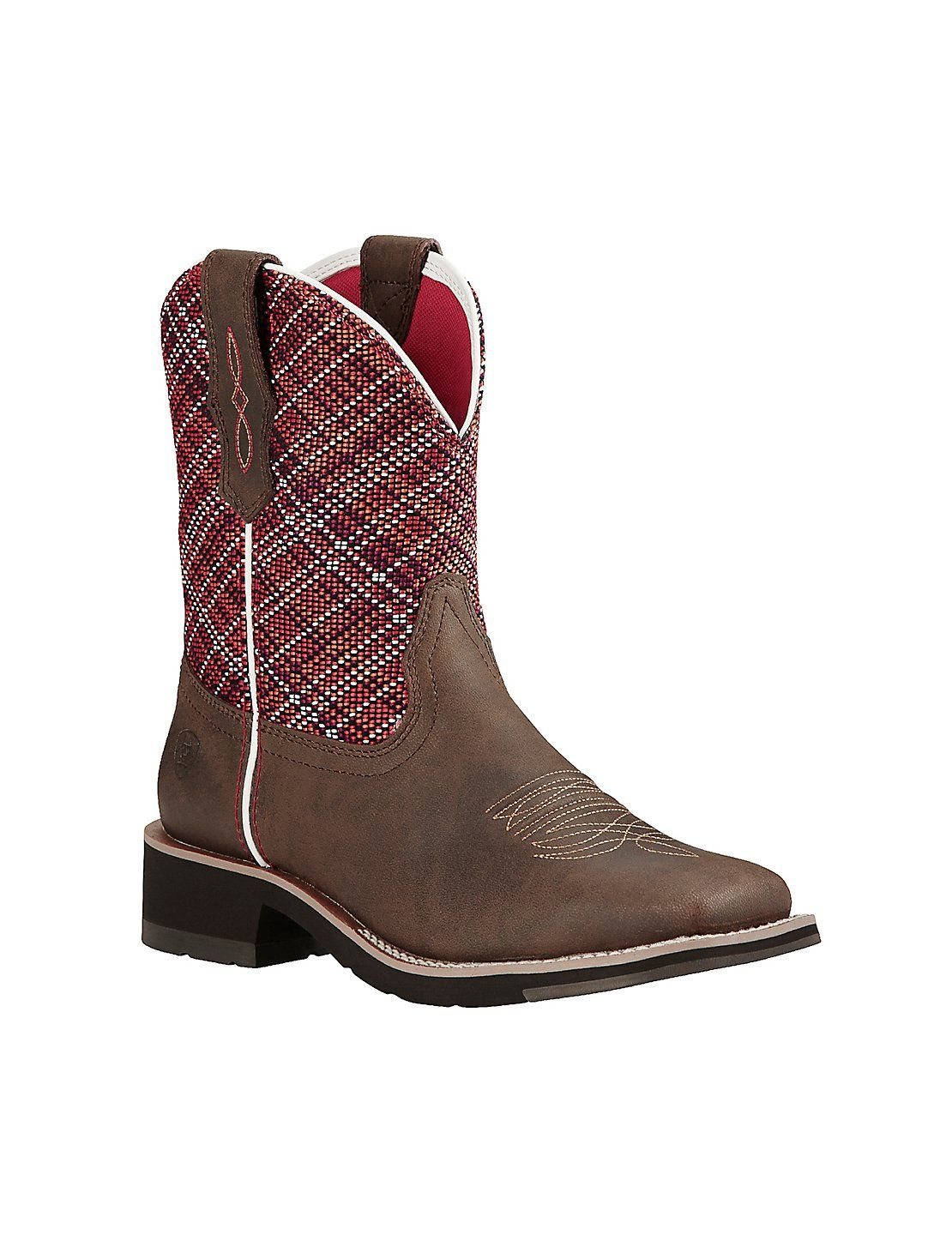 f6ad93910f7 Ariat Fatbaby Heritage Women's Brown with Red Upper Square Toe ...