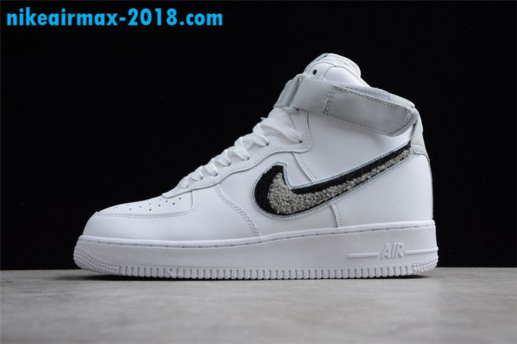 wholesale dealer cf7d9 7682c Nike Air Force 1 07 LV8 High Tops Shoes White Men And Women Size 806403-105