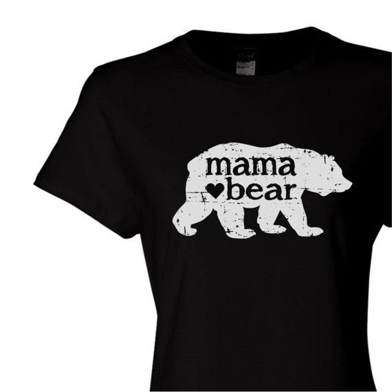 fee428b9009 mama bear with heart screen print tshirt. mother s day gift. mama bear