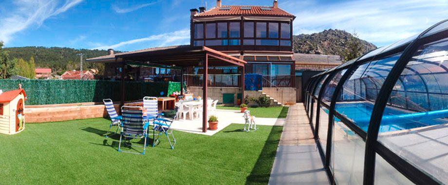 Casa rural con piscina climatizada de agua salada con for Casa rural con piscina climatizada