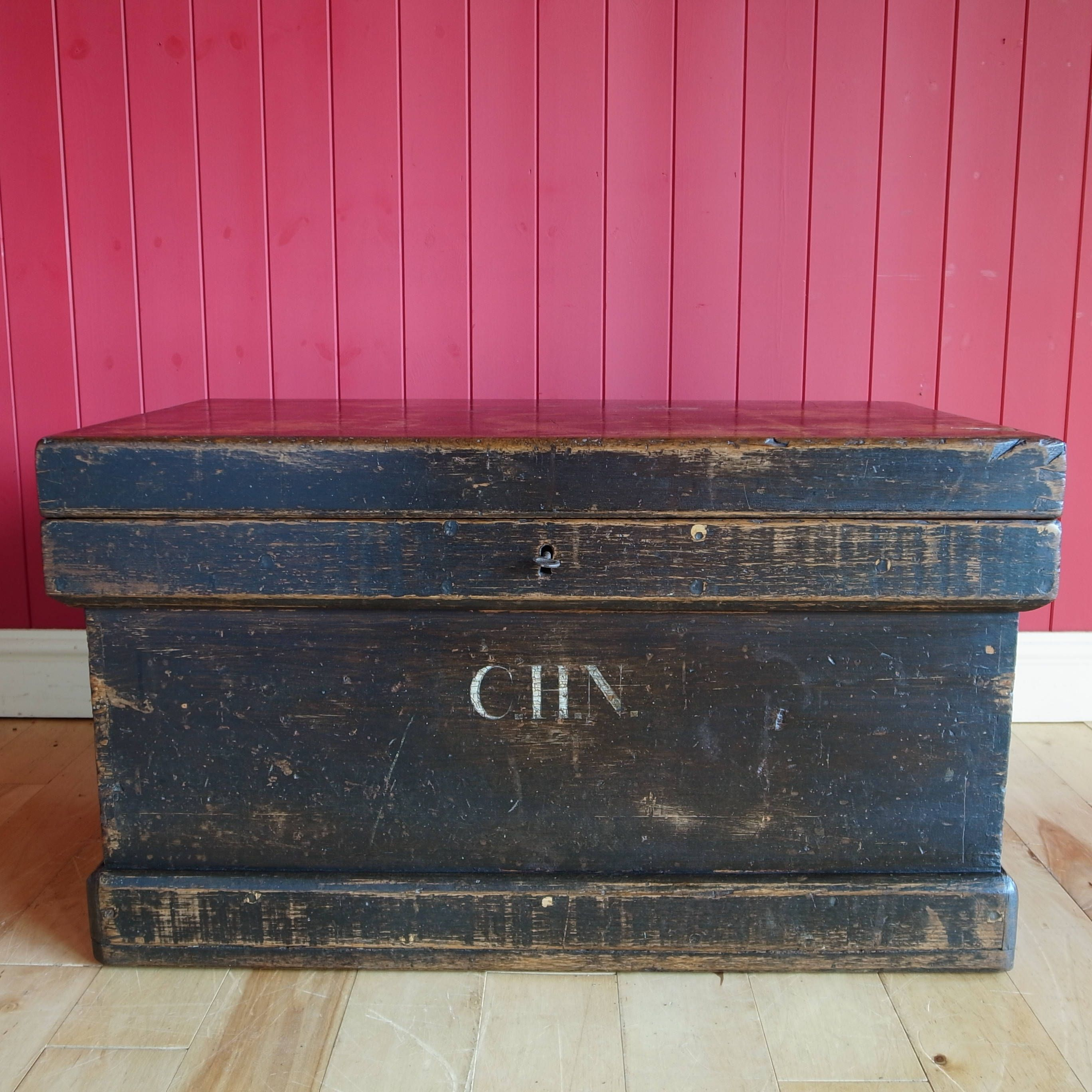 Vintage Rustic Industrial Chest Coffee Table Wooden ...