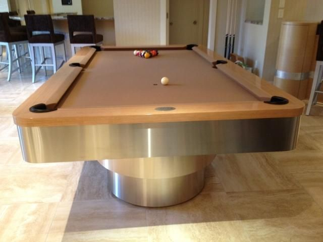 Genial The MIAMI By MITCHELL Pool Tables Quarter Sawn Maple Veneer   Stainless  Steel Aprons And Bases
