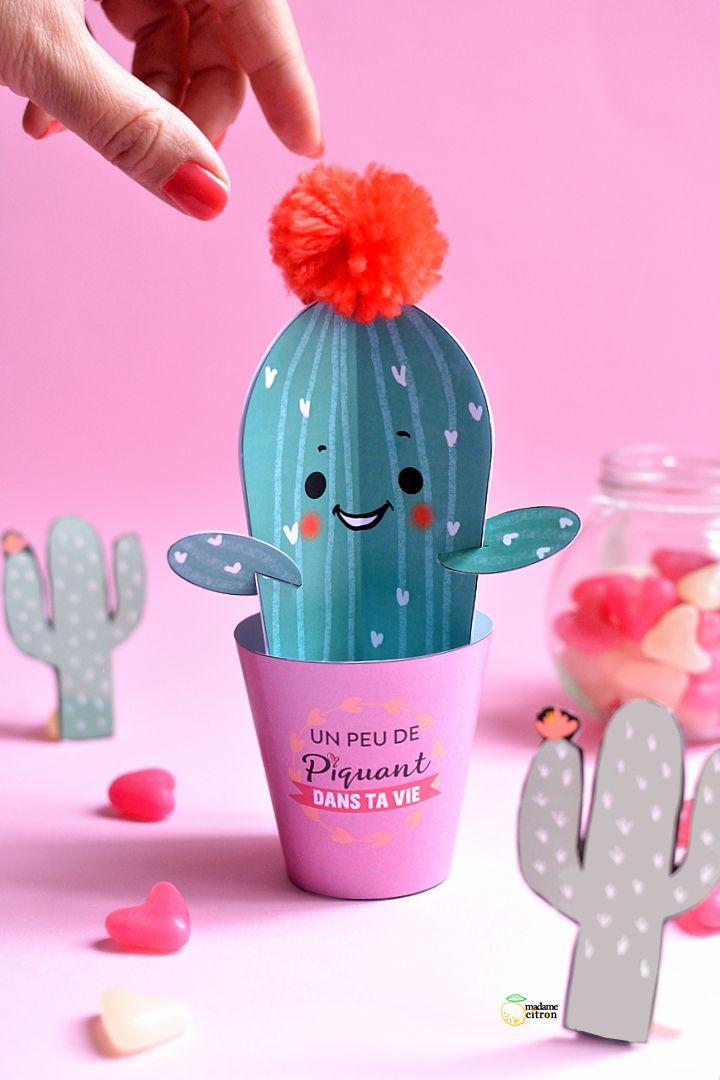 Diy Cadeau Saint Valentin A Fabriquer Soi Meme Cactus En