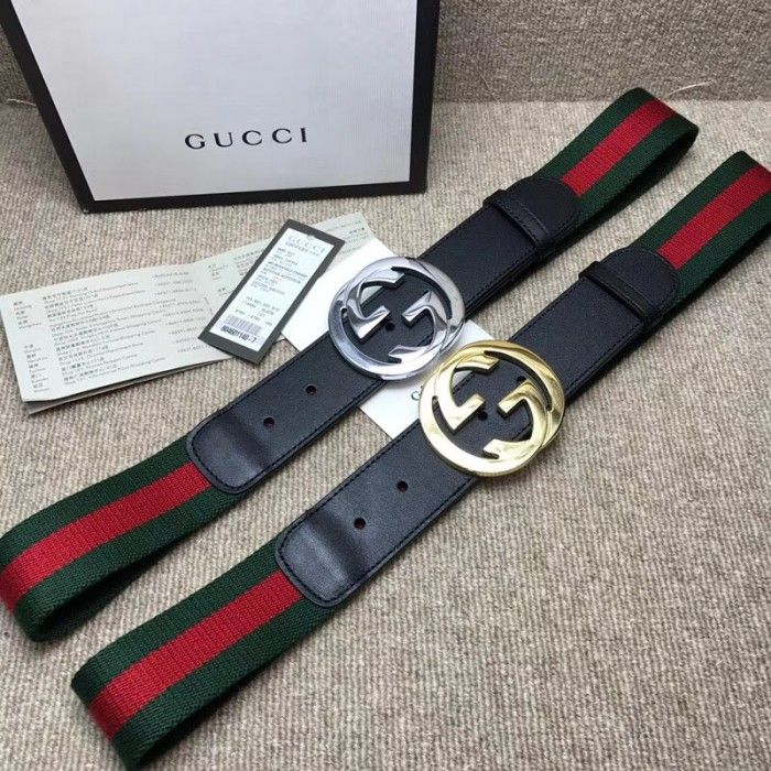 8117079d5af Gucci Web belt with G buckle black 411924 in 2019
